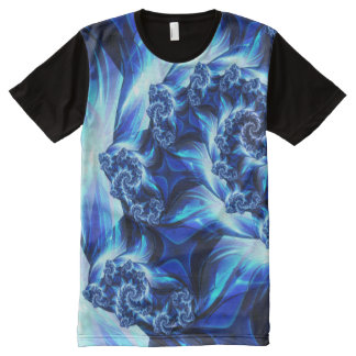 Fractal (One Side) All-Over Printed Panel T-Shirt