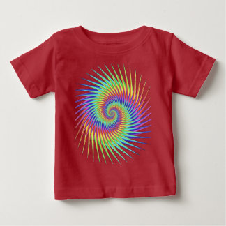 Fractal Optical Illusion Dizzy Rainbow Abstract Baby T-Shirt