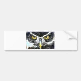 fractal owl design bumper sticker