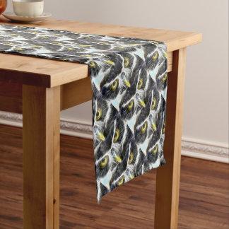 fractal owl design short table runner
