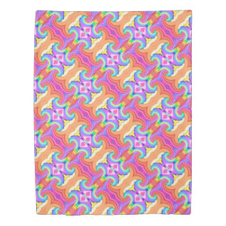 Fractal Pastel Colors Swirl Pattern Duvet Cover