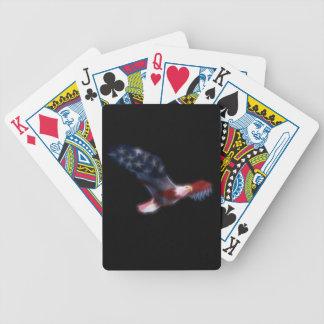 Fractal Patriotic Bald Eagle Playing Cards
