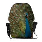 fractal peacock messanger bag courier bag