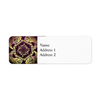 Fractal - Persian Floral Motif Return Address Label