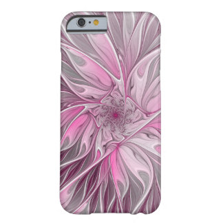 Fractal Pink Flower Dream, Floral Fantasy Pattern Barely There iPhone 6 Case