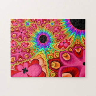 Fractal Psychedelic Sun Jigsaw Puzzle