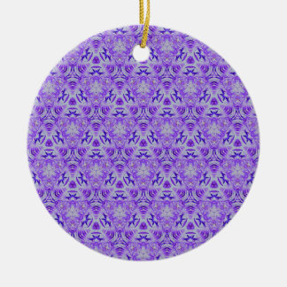 Fractal Purple lovers Seamless personal background Round Ceramic Ornament