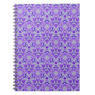 Fractal Purple lovers Seamless personal background Spiral Notebook