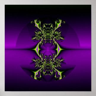 fractal purple mystic poster