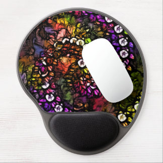 fractal purple Psychedelic Rainbow Spiral Trippy Gel Mouse Pad