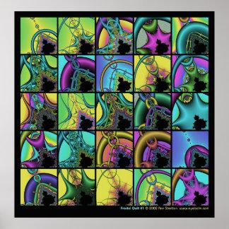 Fractal Quilt #1 Poster