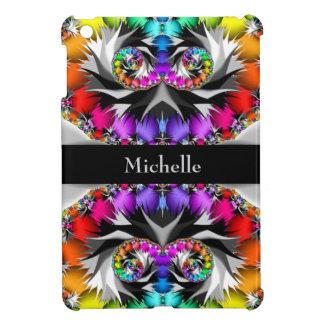 Fractal Rainbow Touch Monogram iPad Mini Cover