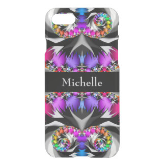 Fractal Rainbow Touch Monogram iPhone 8/7 Case