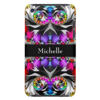 Fractal Rainbow Touch Monogram iPod Case-Mate Case