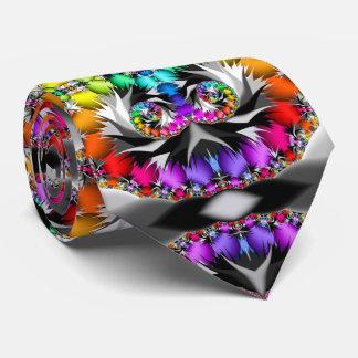 Fractal Rainbow Touch Tie