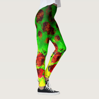 Fractal Raspberries Leggings