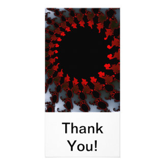 Fractal Red Black White Card