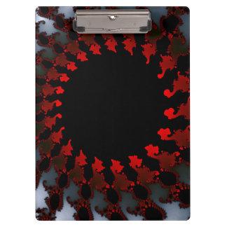Fractal Red Black White Clipboard