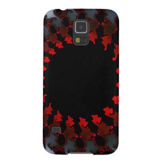 Fractal Red Black White Galaxy S5 Case