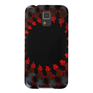 Fractal Red Black White Galaxy S5 Covers