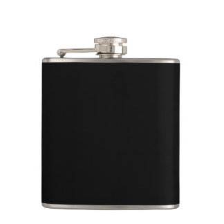 Fractal Red Black White Hip Flask