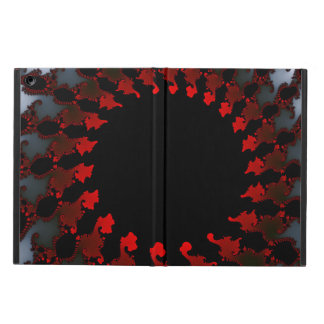 Fractal Red Black White iPad Air Cover