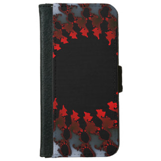 Fractal Red Black White iPhone 6 Wallet Case