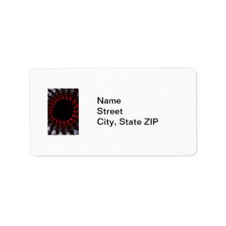 Fractal Red Black White Label