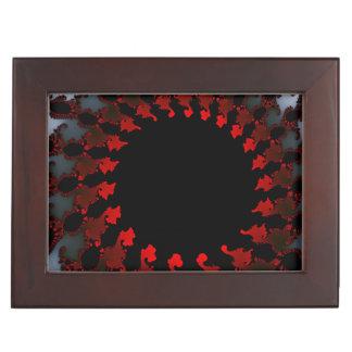 Fractal Red Black White Memory Boxes