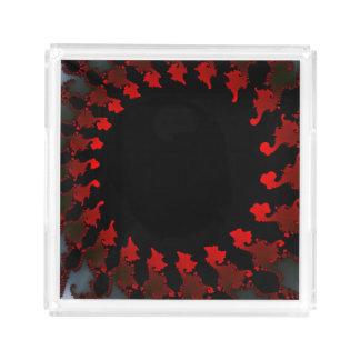 Fractal Red Black White Perfume Tray