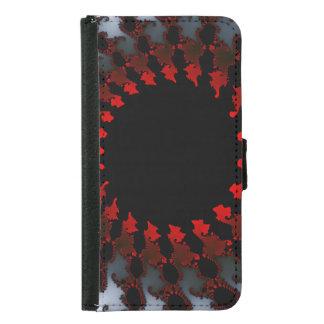 Fractal Red Black White Samsung Galaxy S5 Wallet Case