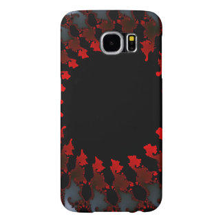 Fractal Red Black White Samsung Galaxy S6 Cases