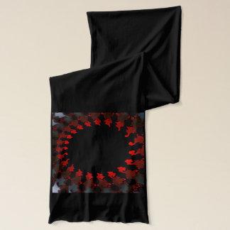 Fractal Red Black White Scarf