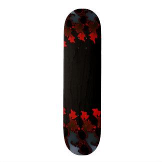 Fractal Red Black White Skate Board