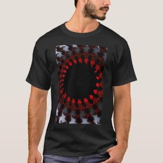 Fractal Red Black White T-Shirt