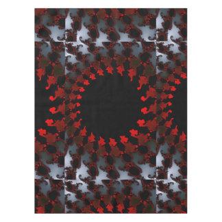 Fractal Red Black White Tablecloth