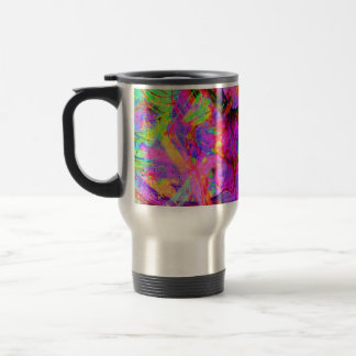 Fractal Red Psy Coffee 15 Oz Stainless Steel Travel Mug