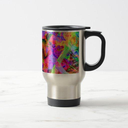 Fractal Red Psy Coffee Coffee Mugs