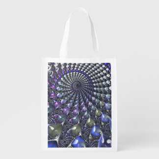 Fractal repeating patterns shopping bag market totes