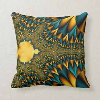 Fractal Rhythm Throw Pillow