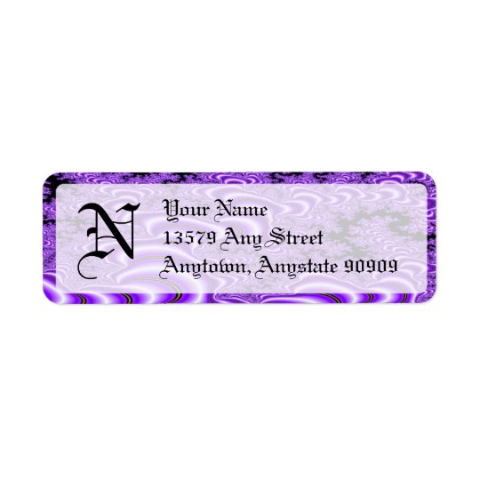 Fractal S~01 Monogram Avery Return Address Labels