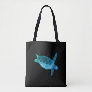 Fractal Sea Turtle Tote Bag