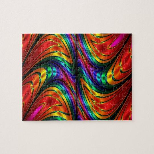Fractal Silk Rainbow Jigsaw Puzzle