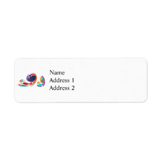 Fractal - Snail Family Return Address Label