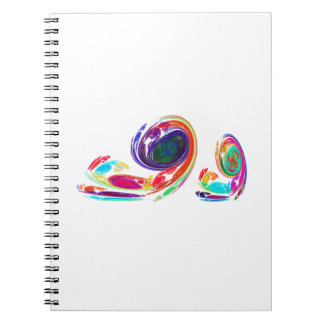 Fractal - Snail Family Spiral Notebooks