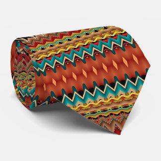 Fractal Southwest Colors Tie