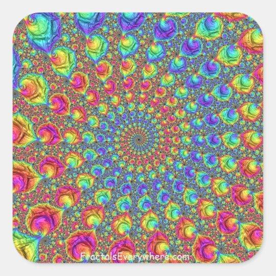 Fractal Spiral 3x3 Sticker