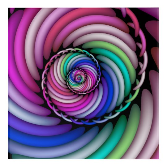 Fractal Spiral Candy Shop Acrylic Wall Art