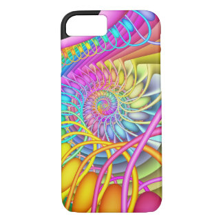 Fractal Spiral Pastel Eggs iPhone 8/7 Case