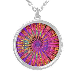 Fractal Spiral Pop Silver Plated Necklace